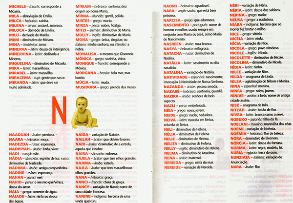 Nomes femininos com a letra N