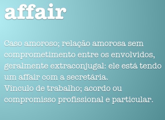 Significado de Affair